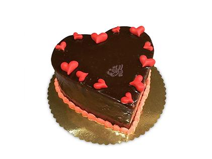 سفارش کیک سالگرد ازدواج در اصفهان - کیک قلب باران | کیک آف