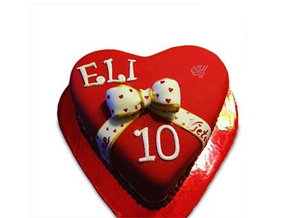 کیک سالگرد ازدواج قلب الی | کیک آف