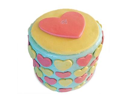 کیک ولنتاین مهرانگیز | کیک آف