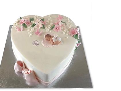 کیک تولد نوزاد نو شکفته | کیک آف