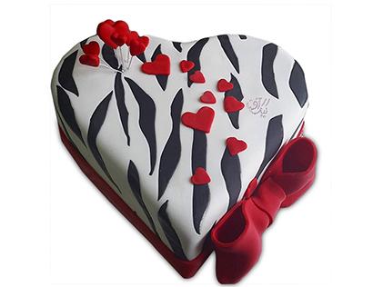 کیک سالگرد ازدواج - کیک عاشقانه مهر افروز | کیک آف