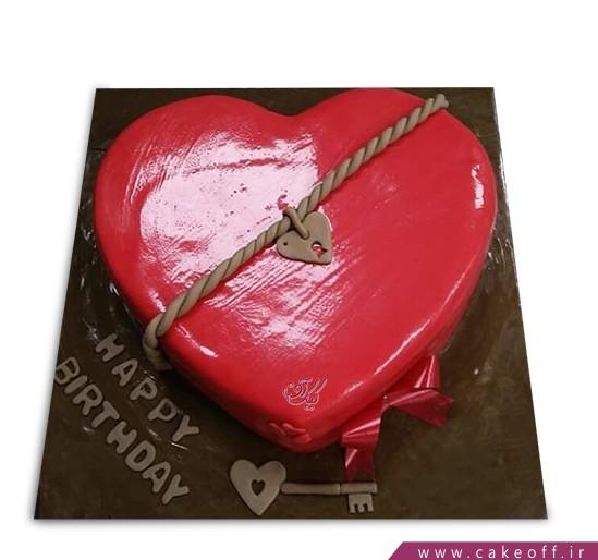 سفارش کیک سالگرد ازدواج - کیک عاشقانه کلید مهربانی | کیک آف