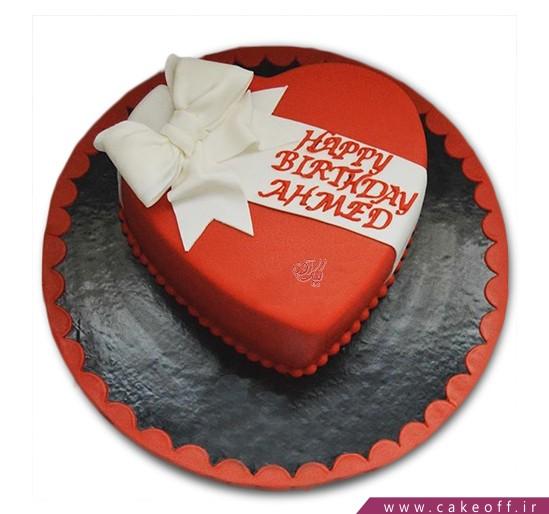 کیک قلب سرخ