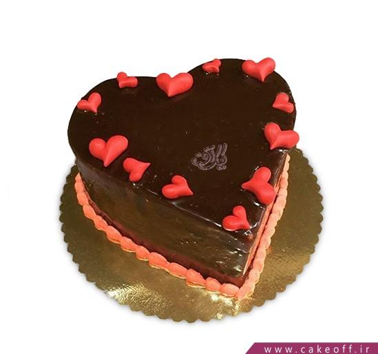 کیک قلب باران