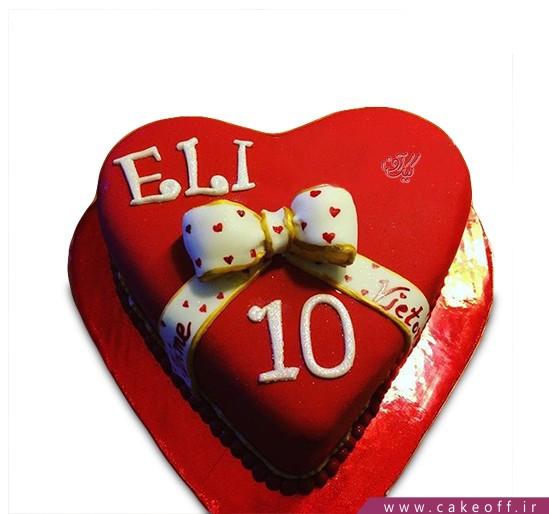 کیک قلب الی