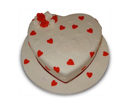 کیک سالگرد ازدواج - کیک عاشقانه مهر | کیک آف