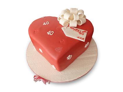 کیک عاشقانه مهرت - کیک سالگرد ازدواج | کیک آف