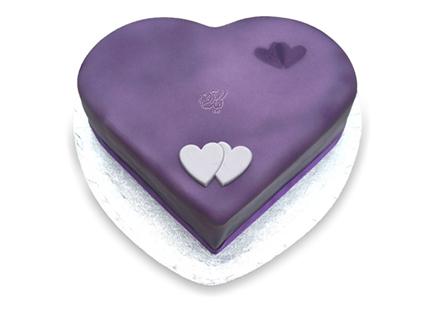 کیک سالگرد ازدواج - کیک قلب ویولت | کیک آف