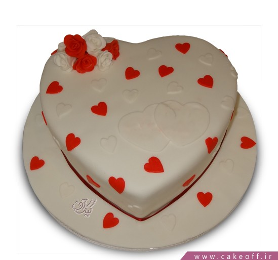 کیک عاشقانه مهر
