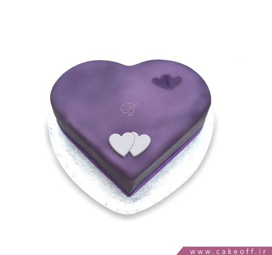 کیک قلب ویولت