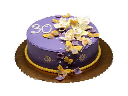 سفارش کیک آنلاین - کیک باغ بنفش | کیک آف