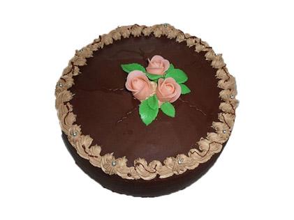 سفارش کیک تولد آنلاین - کیک سه گل | کیک آف