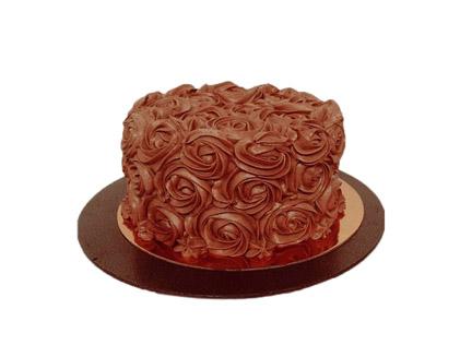 سفارش اینترنتی کیک - کیک عاشقانه رز گلد | کیک آف