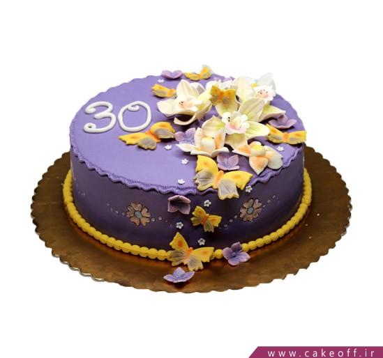کیک باغ بنفش