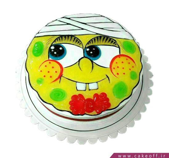 کیک باب اسفنجی بیمار