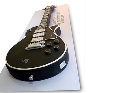 خرید کیک تولد گیتار - کیک گیتار استیو وای | کیک آف