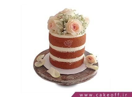 کیک گل رز -  کیک اسفنجی گل رز | کیک آف