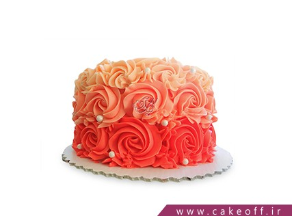 جدیدترین کیک تولد -  کیک گل رز مروارید باران | کیک آف