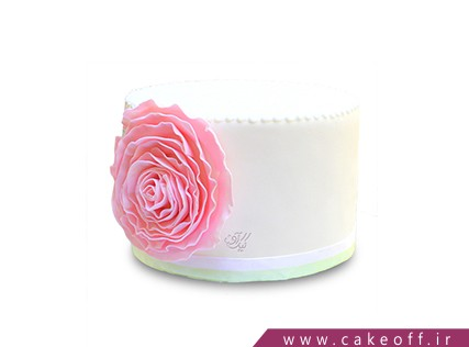 انواع کیک تولد - کیک گل رز صورتی | کیک آف