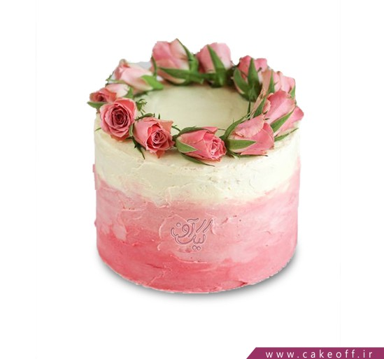 کیک گل رز - کیک حلقه گل رز | کیک آف