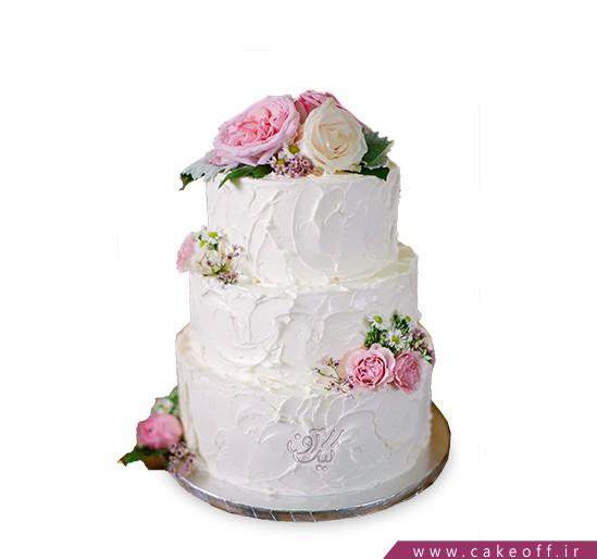 کیک گل رز - کیک طبقاتی گلباران | کیک آف