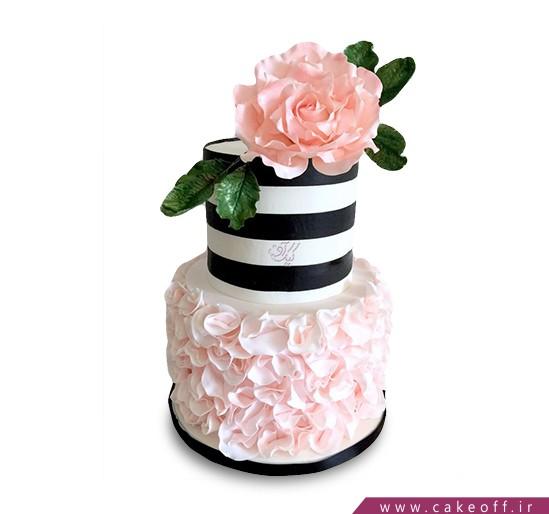 کیک گل رز - کیک طبقاتی رز گل | کیک آف