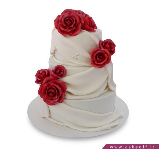 کیک عروسی -  کیک گل رز طبقاتی | کیک آف