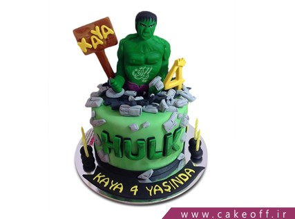 جدیدترین کیک تولد پسرانه - کیک هالک 2 | کیک آف