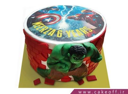 کیک تولد پسرانه - کیک پسرانه هالک 6 | کیک آف