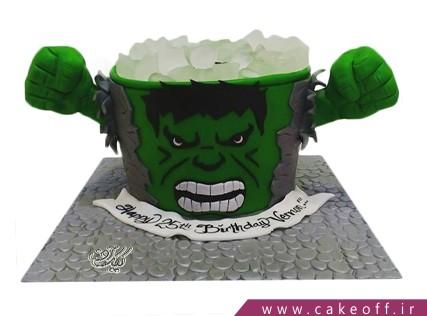 کیک تولد پسرانه - کیک پسرانه هالک 10 | کیک آف