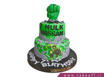 کیک تولد پسرانه - کیک پسرانه هالک 12 | کیک آف