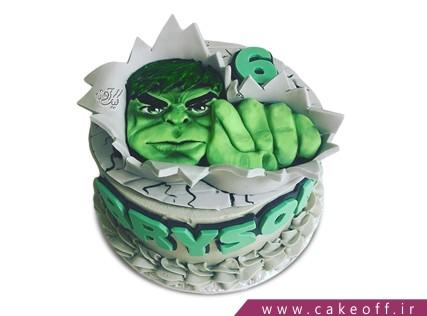 کیک تولد پسرانه - کیک پسرانه هالک 13 | کیک آف