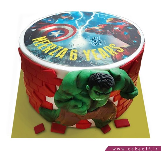 کیک تولد پسرانه - کیک پسرانه هالک ۶ | کیک آف