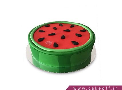 کیک شب یلدا - کیک هندوانه -کیک هندونه ماهی تابه ای | کیک آف