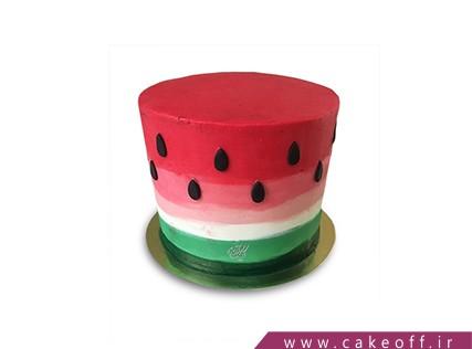 کیک شب یلدا - کیک هندوانه ای - کیک هندوانه ی ایرانی | کیک آف