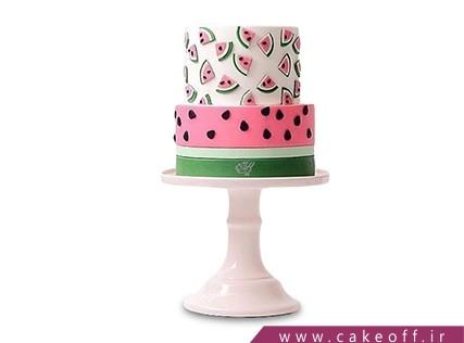 کیک شب یلدا - کیک هندونه - کیک مینی قاچ | کیک آف