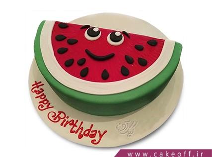 کیک شب یلدا - کیک هندونه ای - کیک هندونهی با شخصیت | کیک آف
