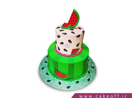 کیک شب یلدا - کیک تولد هندوانه - کیک طبق طبق هندونه | کیک آف
