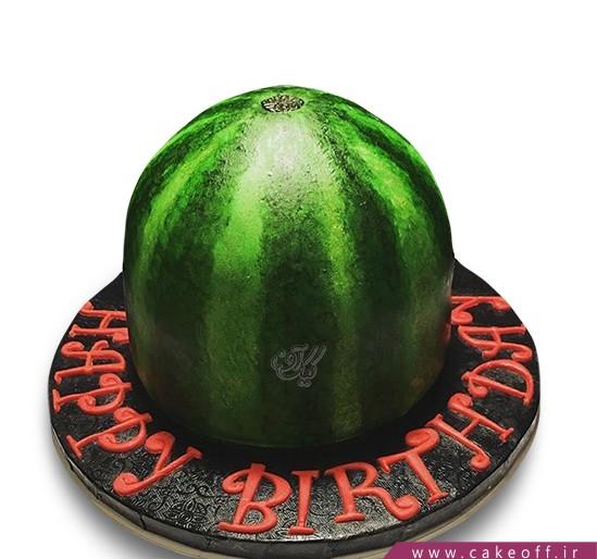 کیک شب یلدا - کیک هندوانه - کیک بدو بدو هندونه | کیک آف
