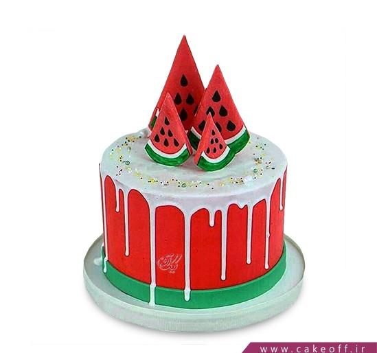 کیک چکه ای - کیک هندوانه -کیک چکه هندونه | کیک آف