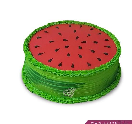 کیک شب یلدا - کیک هندونه ای - کیک خامه هندونه | کیک آف
