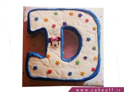 کیک تولد - کیک حرف دی - کیک حرف D میکی ستاره ای | کیک آف