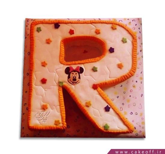 کیک حرف R میکی ستاره ای