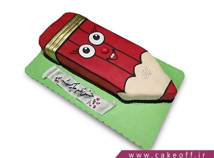کیک روز دانش آموز - کیک مداد قرمز | کیک آف
