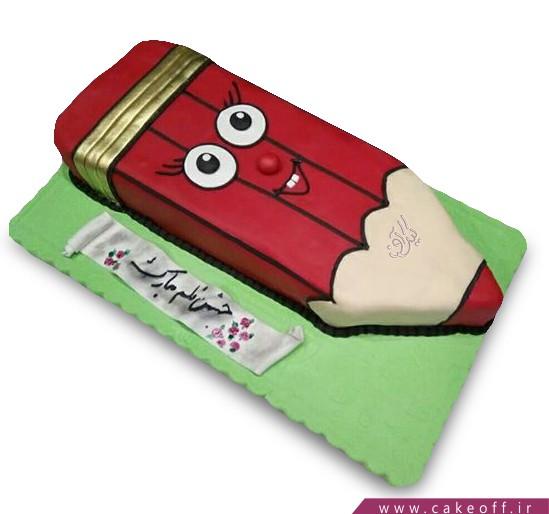 کیک روز دانش آموز - کیک مداد قرمز   کیک آف
