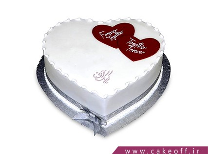 کیک قلب - کیک تولد عاشقانه - کیک عشقمان پایدار | کیک آف