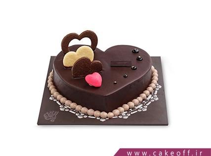 کیک شکلاتی - کیک تولد - کیک شکلات قلبی | کیک آف