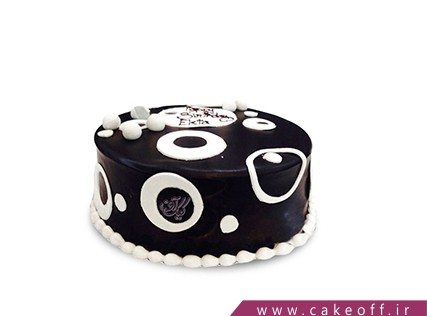 کیک خامه ای - کیک تولد - کیک مشکی رنگ عشقه | کیک آف