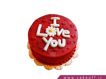 کیک عاشقانه - کیک تولد - کیک عشق آتشین | کیک آف