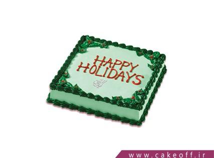 کیک خامه ای - کیک تولد - کیک سبزی ات پر رنگ باد | کیک آف